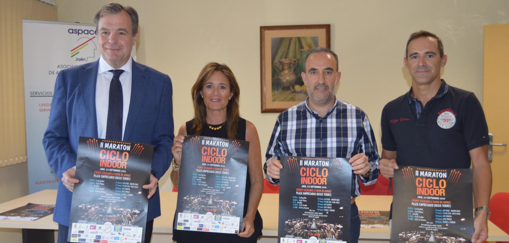 Se presenta oficialmente el II Maratón Ciclo Indoor a favor de Aspace Jaén