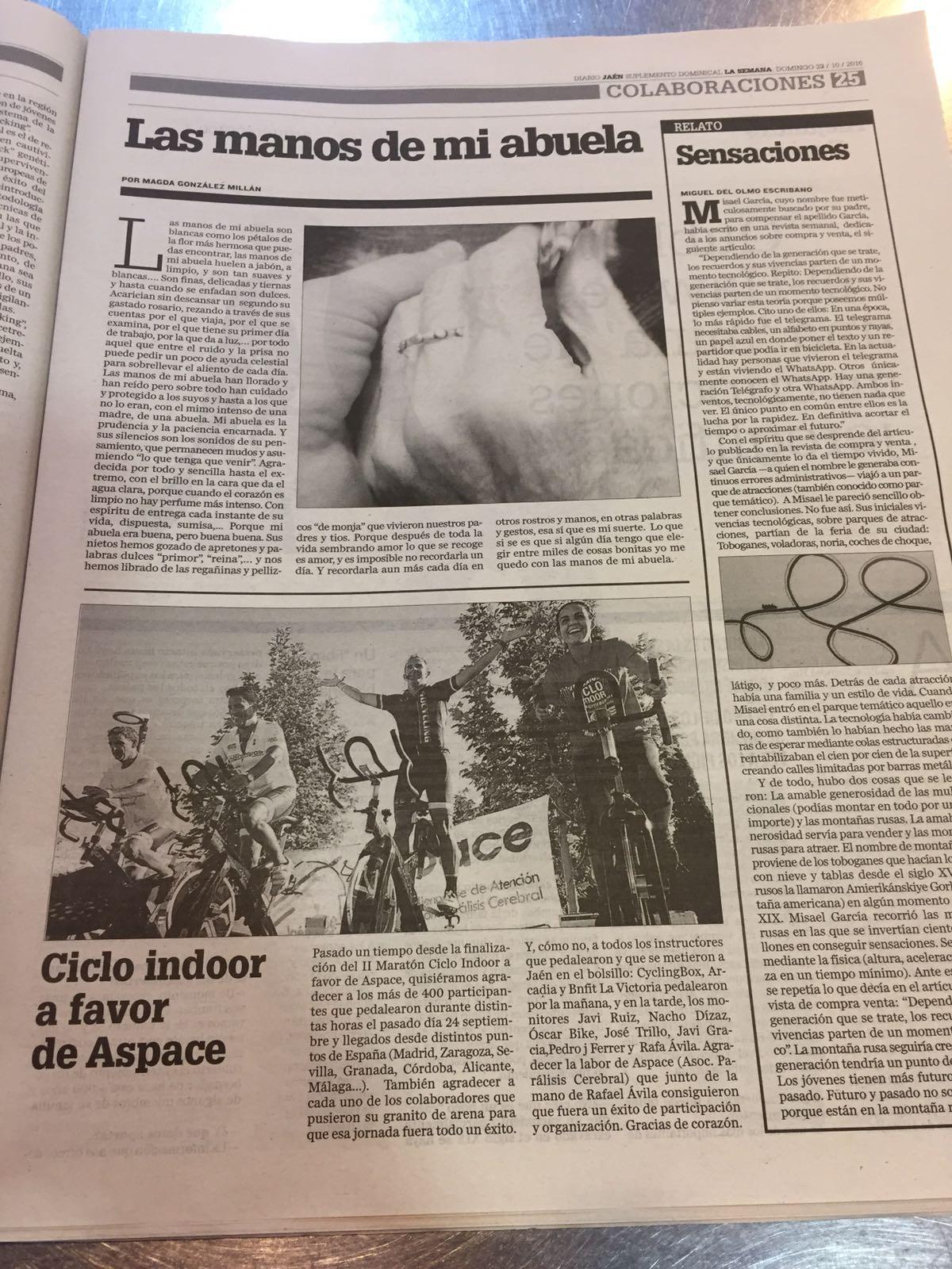 Dominical en Diario Jaén sobre Aspace Jaén