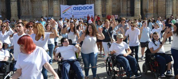 (Vídeo) Así fue el flashmob del Día Mundial de la Parálisis Cerebral de Aspace Jaén