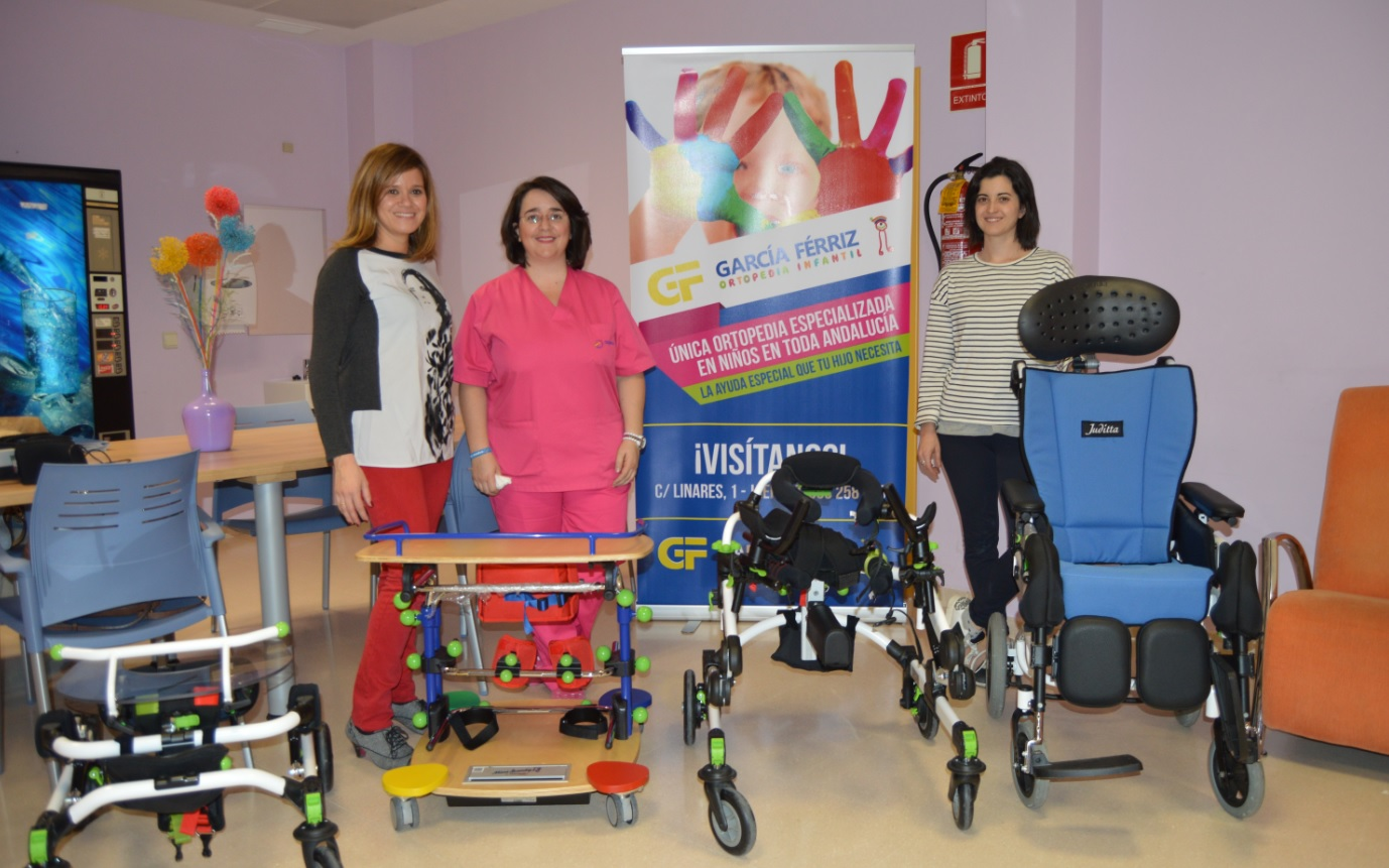 Presentación en Aspace Jaén de productos para niños con afectaciones motóricas