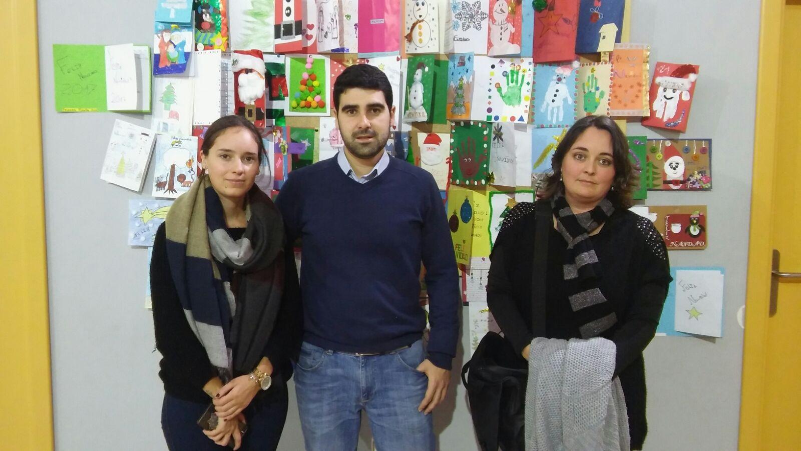 El AMPA «El Noguerín» del Martín Noguera regala postales navideñas a Aspace Jaén