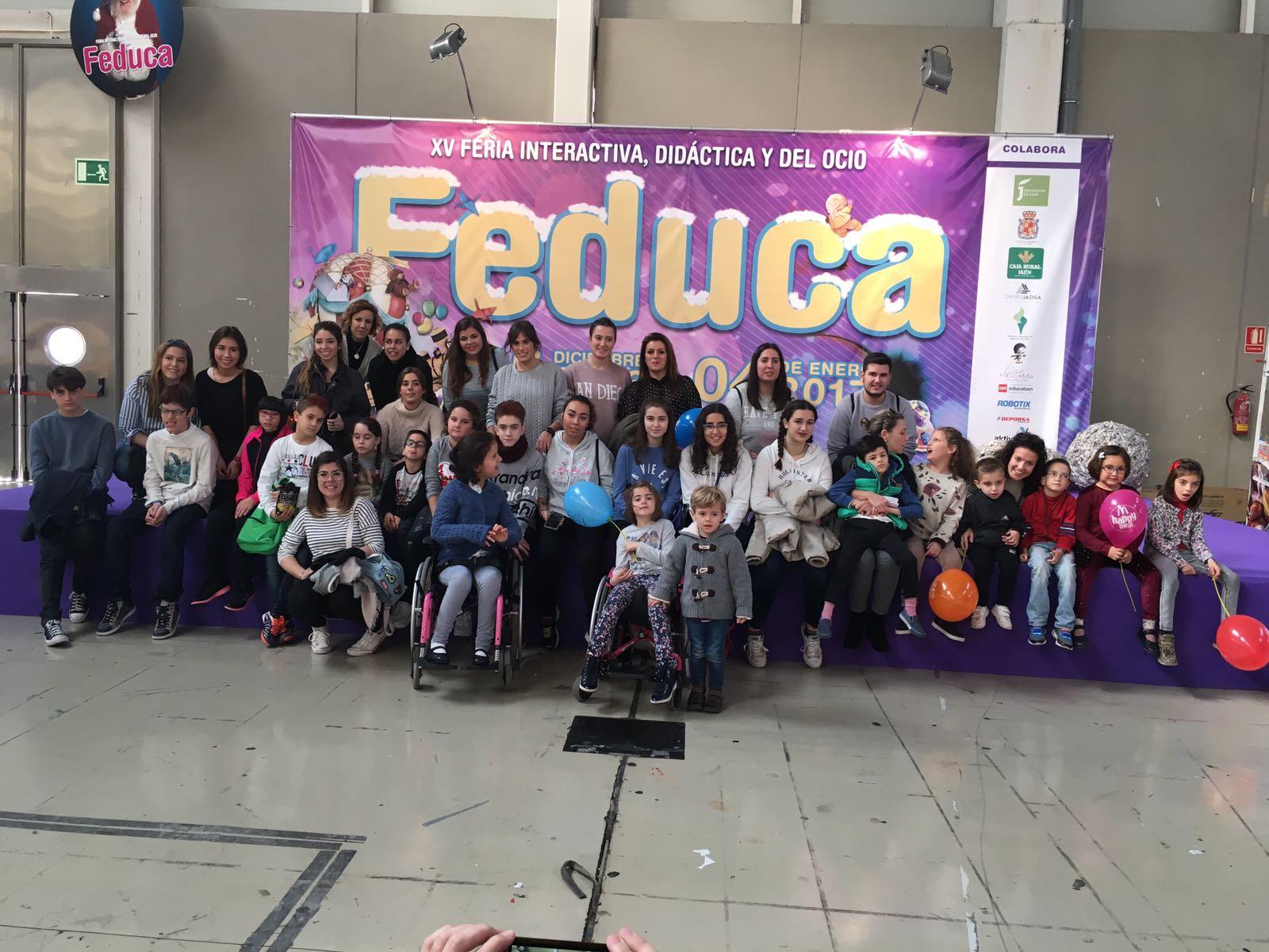 Los niñ@s de Aspace Jaén se divierten en Feduca un año más
