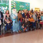 Melchor, Gaspar y Baltasar realizan una visita a Aspace Jaén
