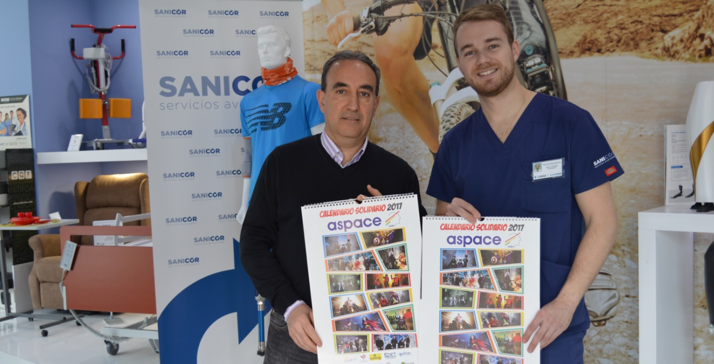 Ortopedia López muestra su apoyo al calendario solidario de Aspace Jaén