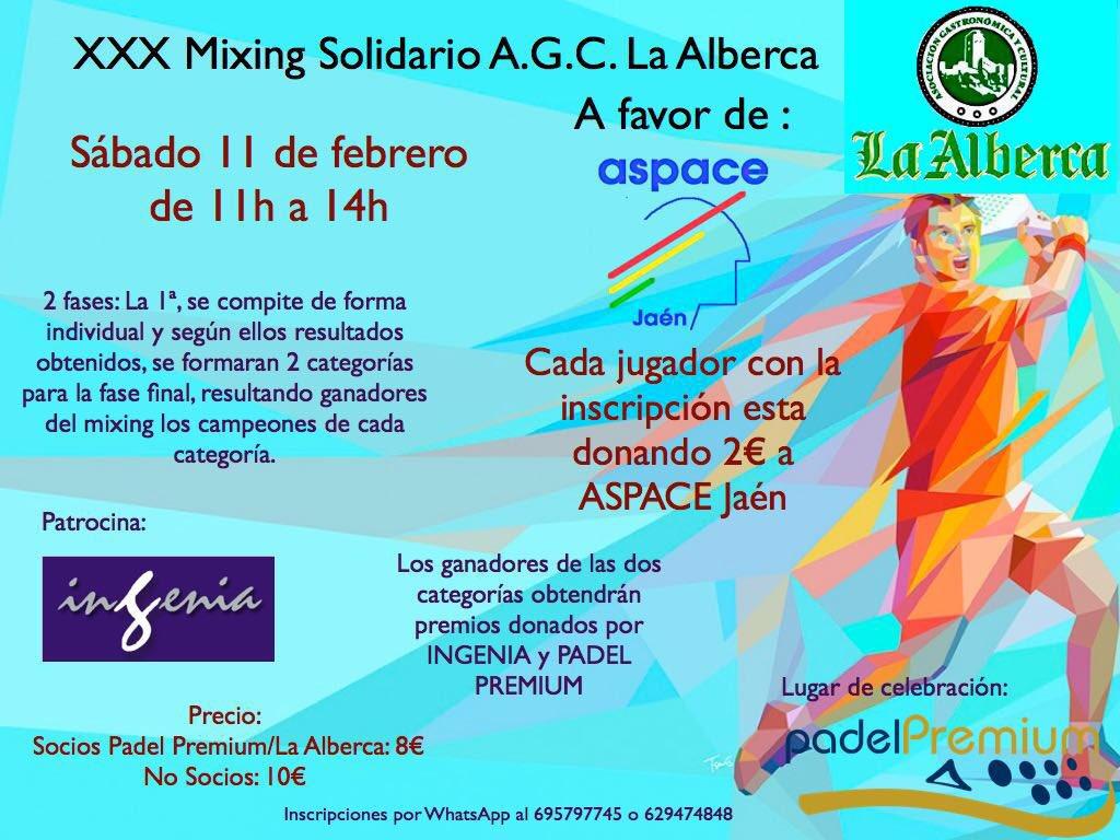 XXX Mixing solidario a favor de Aspace Jaén