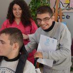 Sergio Ozaez, la eterna sonrisa que enamora en la UED de Aspace Jaén
