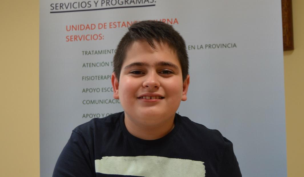 Salva Cabrera: «De mayor quiero ser periodista o deportista paralímpico»