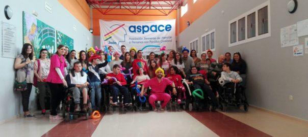 Alumnos del IES Jabalcuz visitan la UED de Aspace Jaén