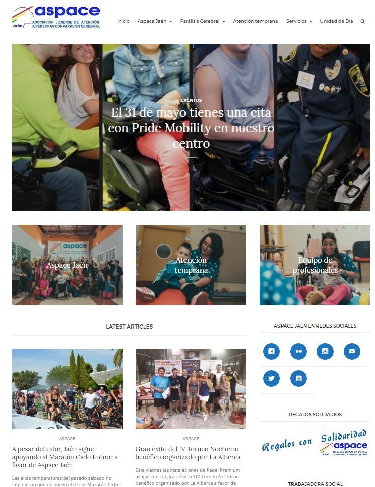 La web de Aspace Jaén logra más de 75.000 visitas en los seis primeros meses del año