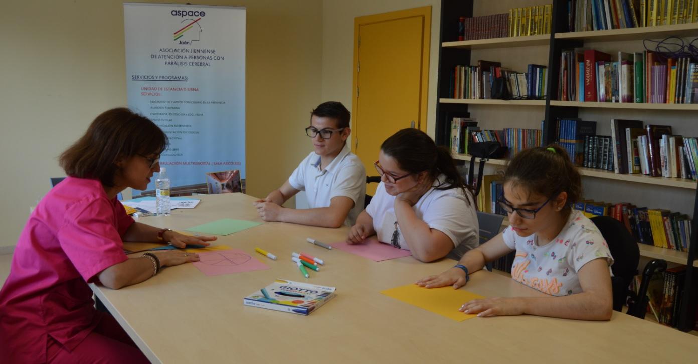 ¿Cómo es el taller de inteligencia emocional que se lleva a cabo en Aspace Jaén?