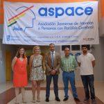 El director del Área de Negocio en Jaén de Caixabank, Miguel Serrano visita Aspace Jaén