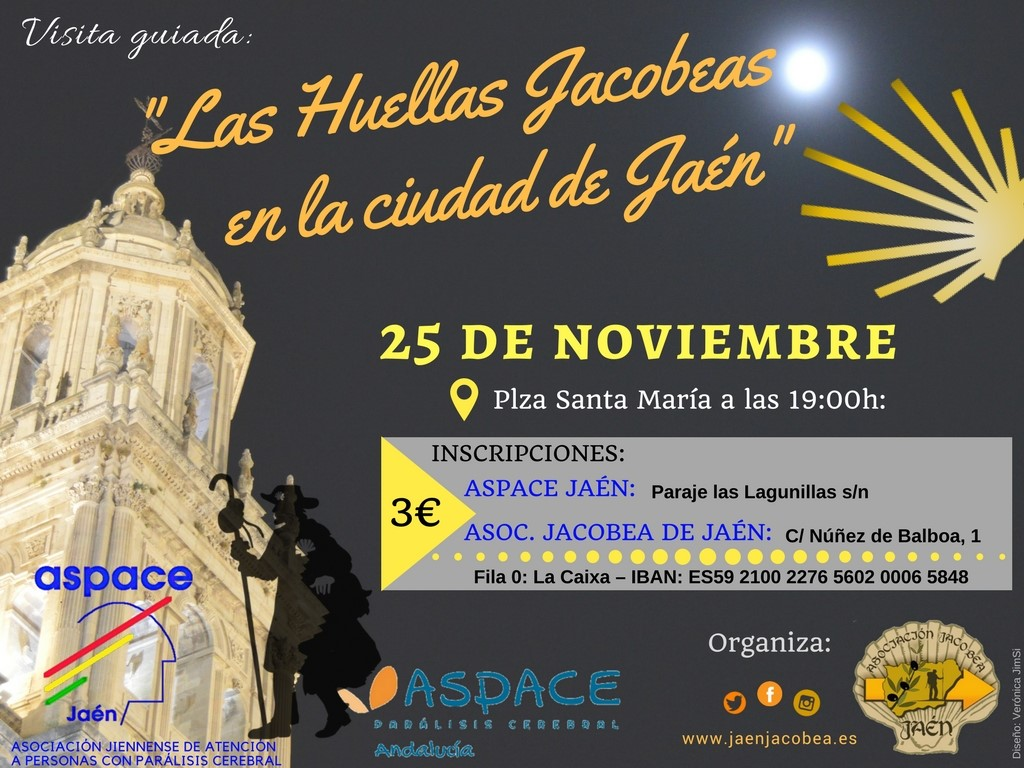 Visita guiada solidaria a favor de Aspace Jaén: «Las huellas jacobeas en la ciudad de Jaén»