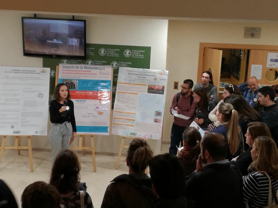 Sara Molina participó en el III Congreso GIIMT de investigación en musicoterapia