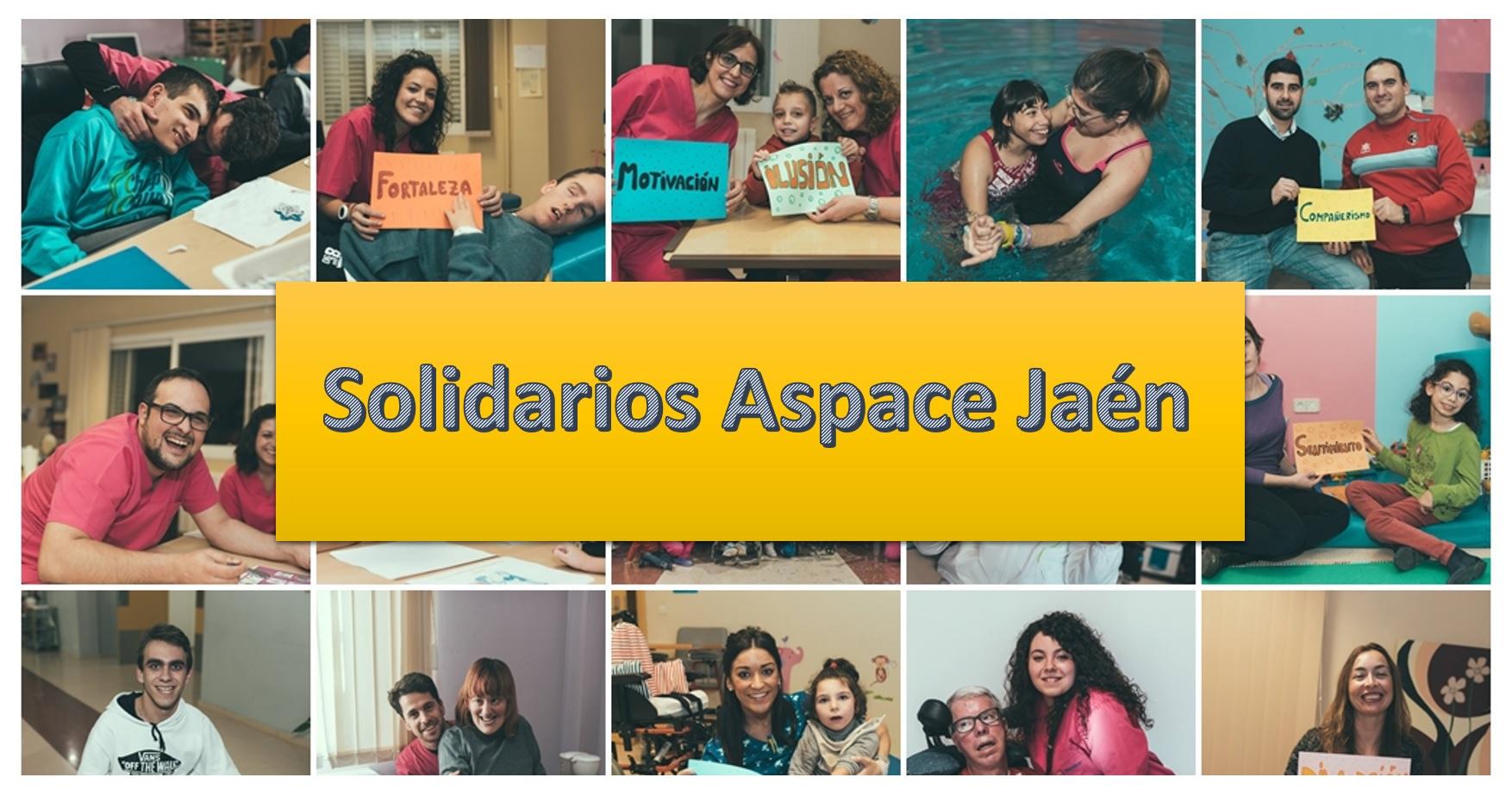 Solidarios Aspace Jaén para reconocer la labor de entidades con nuestra entidad