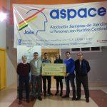 La Borriquilla entrega a Aspace Jaén el dinero recaudado de la ruta solidaria