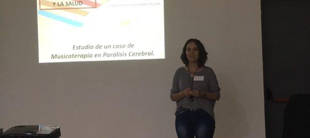 Sara Molina participó en las XIII Jornadas de Musicoterapia