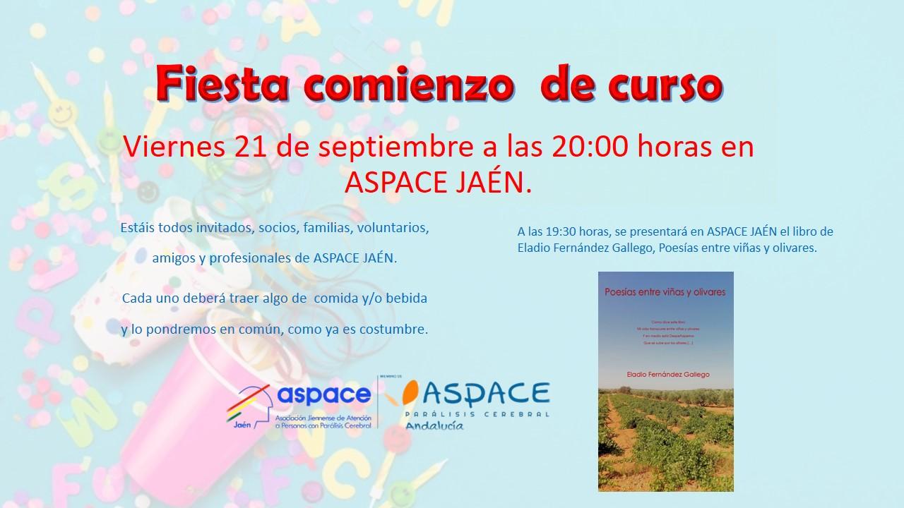Fiesta de comienzo de curso, este viernes en Aspace Jaén