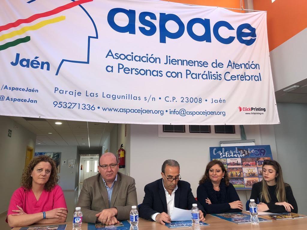 Se presenta oficialmente el Calendario Solidario de Aspace Jaén 2019