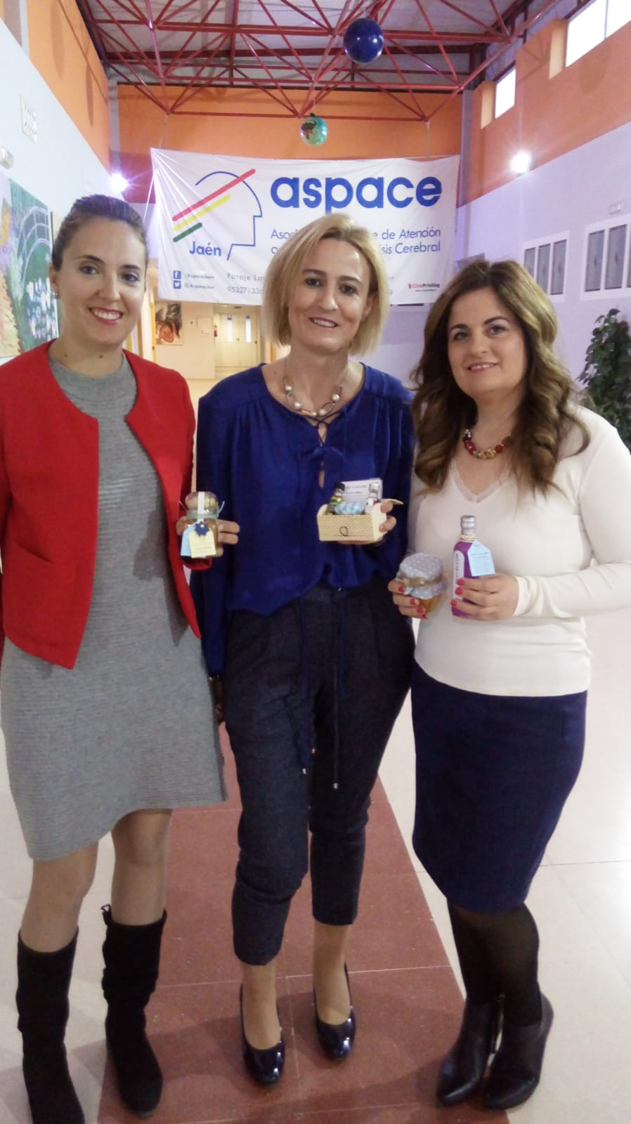 Emilia López de Enamor Wedding Coach visita Aspace Jaén