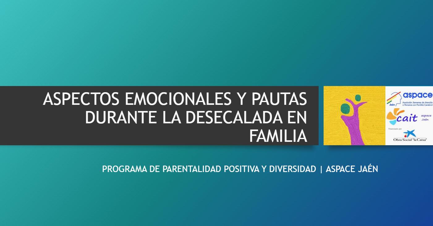 Aspectos emocionales y pautas durante la desescalada en familia