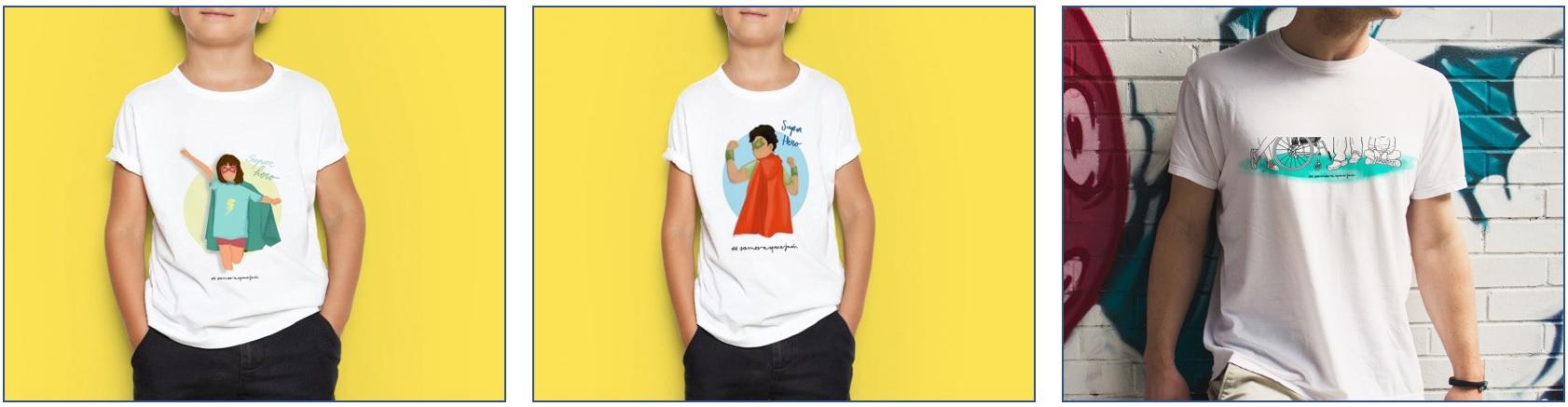 Llegan las «Super Hero», las nuevas camisetas solidarias de Aspace Jaén ¡No te quedes sin ella!