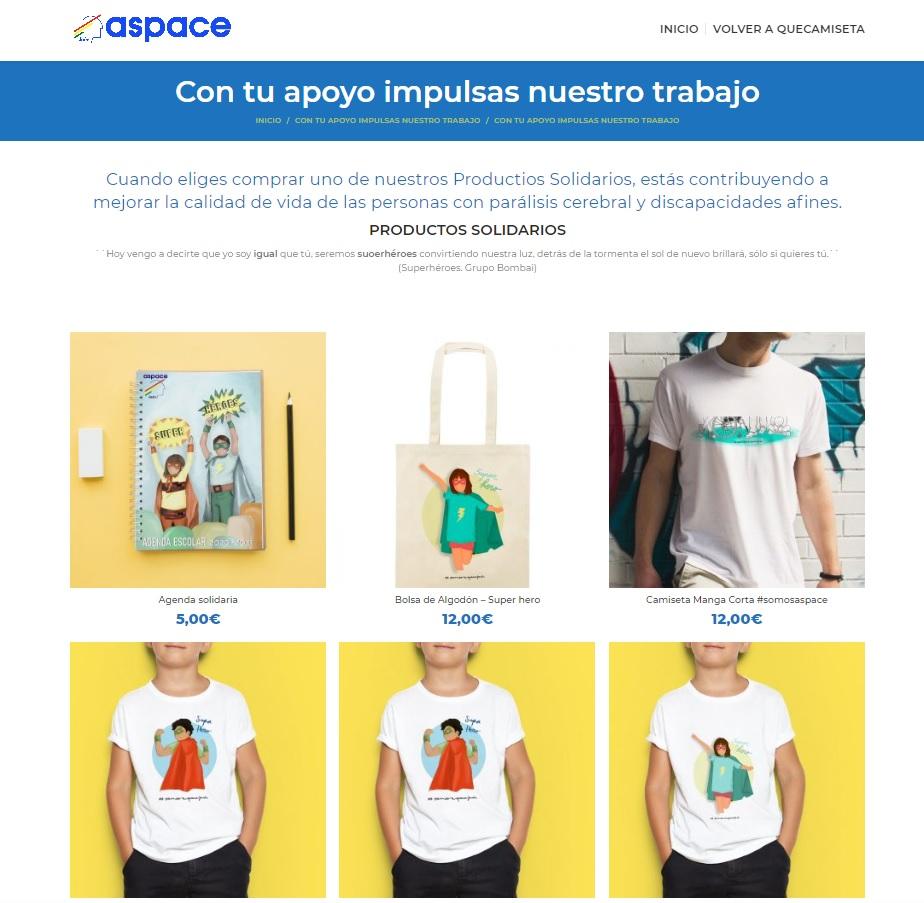 Aspace Jaén abre su tienda solidaria online ¡Regala solidaridad!